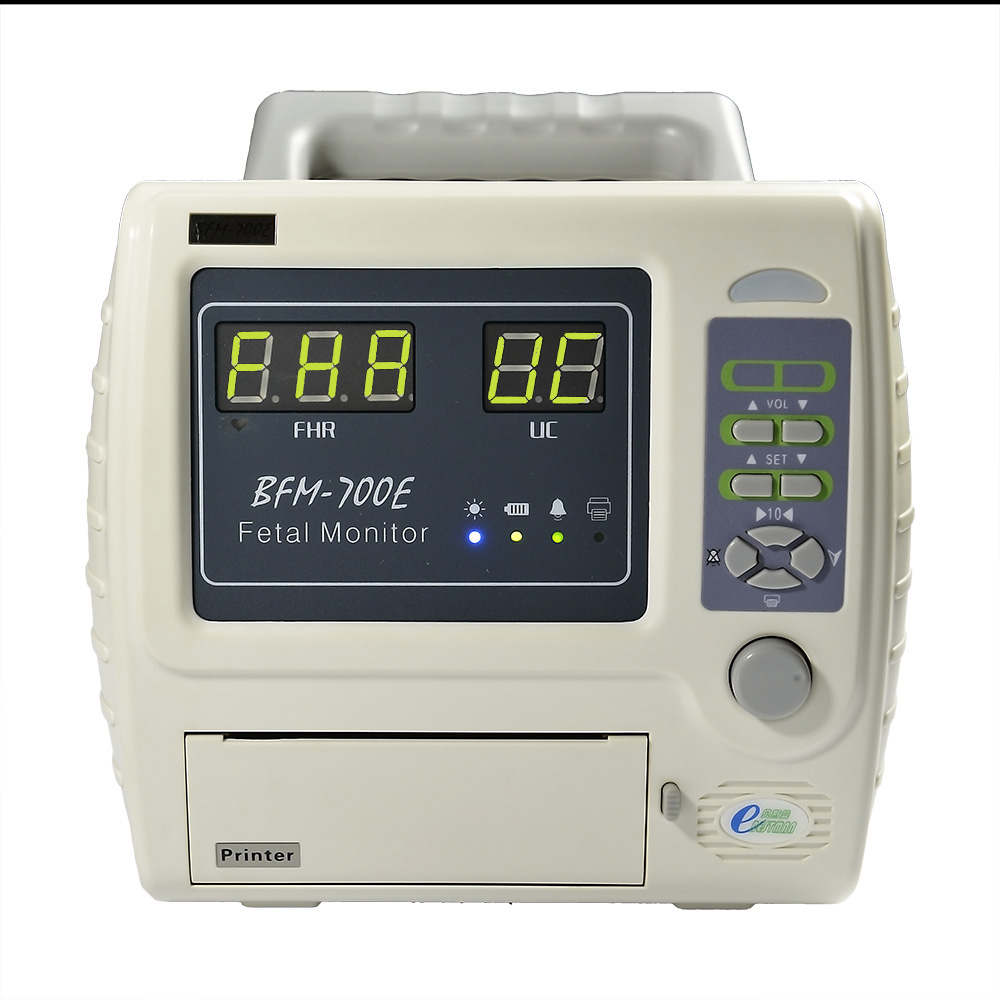 Single type portable fetal maternal monitor CTG machine fetal heart rate monitoring and pregnant TOCO monitoring  BFM-700E portable 5 7 color lcd fetal maternal monitor fetal monitor twins monitor bfm 700