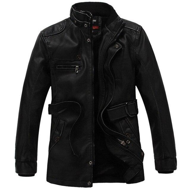 Motorfiets Lederen Jas heren Jas jaqueta de couro masculino