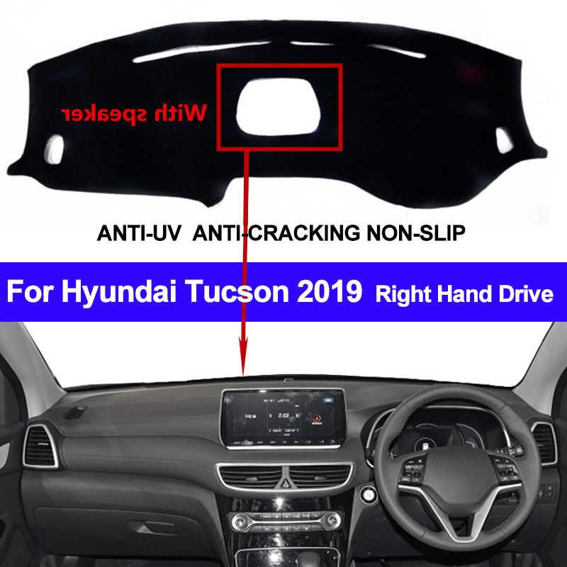 Yeeoy Black Dashboard Dash Protector Dash Mat Sun Cover Pad Replacement for 2016-2019 Hyundai Tucson ix35