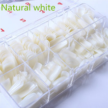 Типсы коробкой ногти полное накладные природный поддельные покрытие шт. с