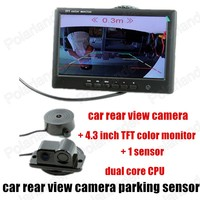 3 In 1 Car Rear View Camera Car Camera Parking with 1 Sensore for Parking Camera Backup Radar System 4.3 inch monitor