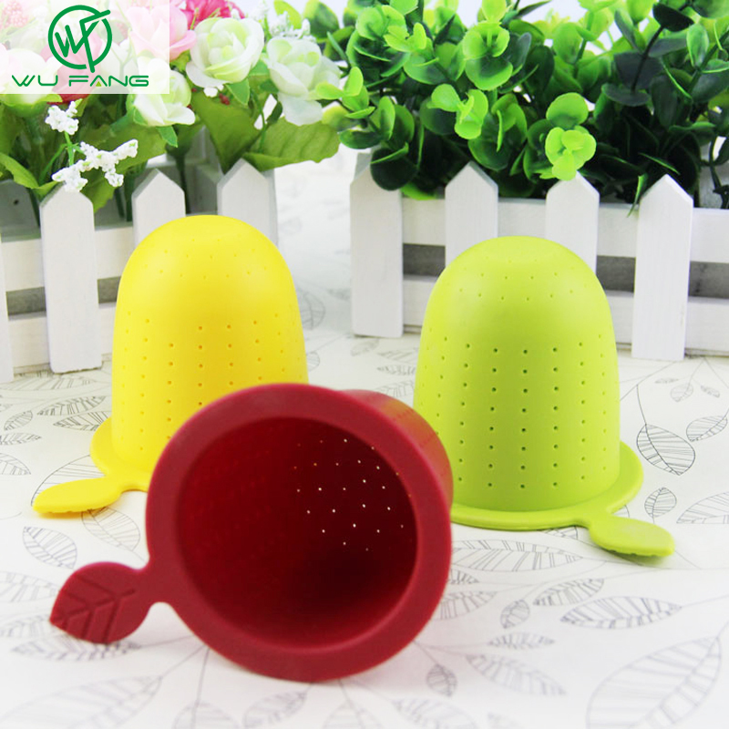 Maple Leaf Shape Silicone Design Loose Tea Leaf Strainer Herbal Spice Infuser Filter Tools Sweet Type Filter Tea Accessories