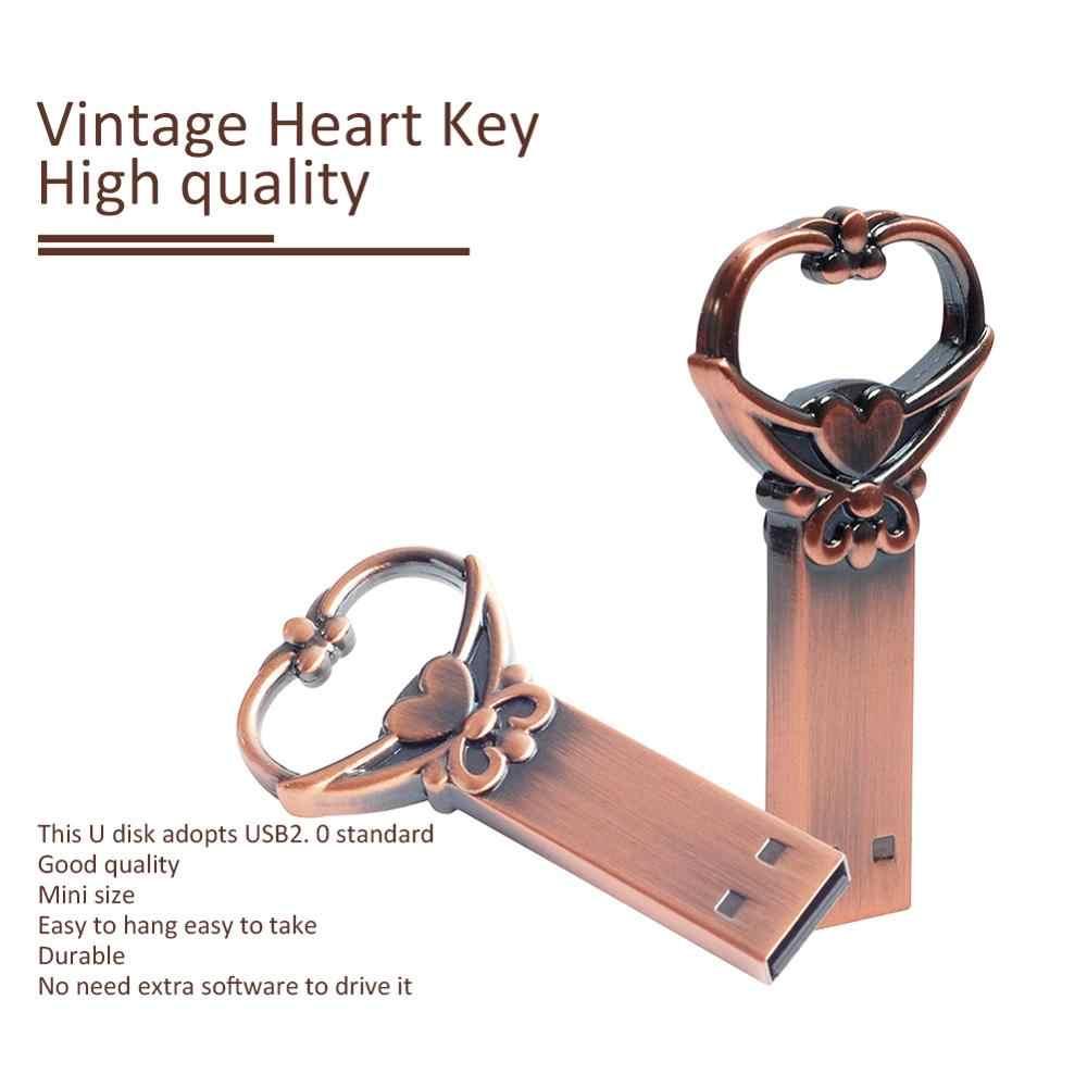 LEIZHAN métal clé USB 64GB 32GB 16GB 8GB 4GB clé USB pour ordinateur portable clé USB