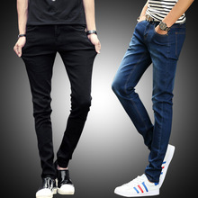 ФОТО hot sale skinny jeans men stretch slim denim jeans mens casual cotton washed designer clothes jeans masculino jean homme pants
