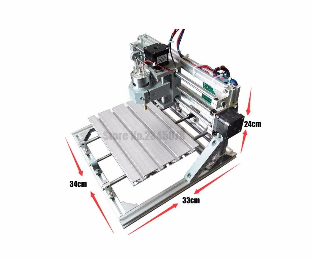 CNC 500 2418 MW láser GRBL DIY CNC máquina, área de trabajo 24x18x4,5 cm,  fresadora Pcb de 3 ejes, enrutador de madera, grabador de molino de Pvc en  Routers ...