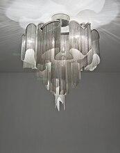 terzani stream ceiling light aluminum chain modern novelty lighting fixture ceiling lamp iridescent light project