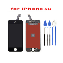LCD For Iphone 5c Screen Display Part Glass Touch Panel Digitizer Assembly With Complete Tools Black Screen for htc butterfly x920d touch screen panel digitizer glass lcd display assembly with tools