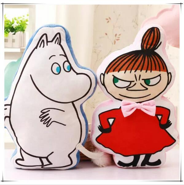Candice guo super cute cartoon fairy hippo Moomin girl Ami Little My Snufkin plush toy warm cushion pillow kid birthday gift 1pc the huge lovely hippo toy plush doll cartoon hippo doll gift toy about 160cm pink