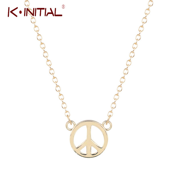 Kinitial gold silver plated mans world peace sign pendant necklace kinitial gold silver plated mans world peace sign pendant necklace love sign hip hop necklaces womens aloadofball Image collections