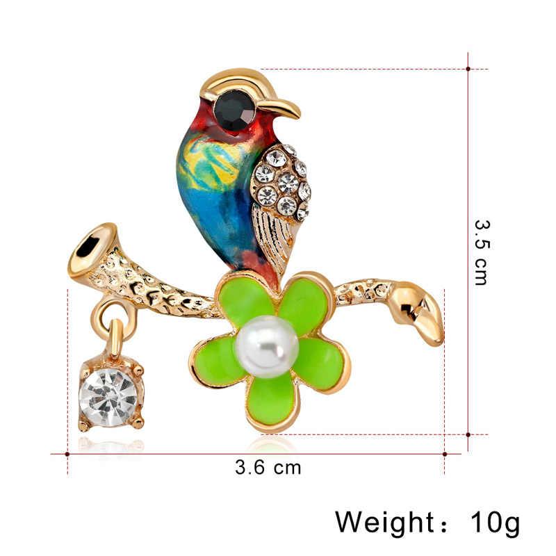 Mimpi Permen Colorful Enamel Burung Bros untuk Wanita Kreatif Hewan Bros Pin Hadiah untuk Teman Sweater Aksesoris Perhiasan Wanita