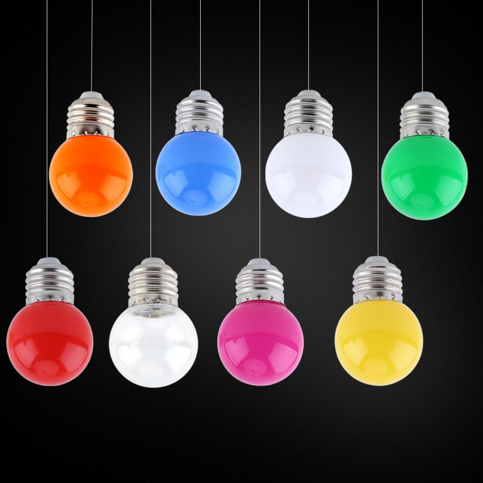 Light Bulb Shop Hong Kong: Aliexpress.com : Buy 1W E27 LED Colorful Light Bulb Round