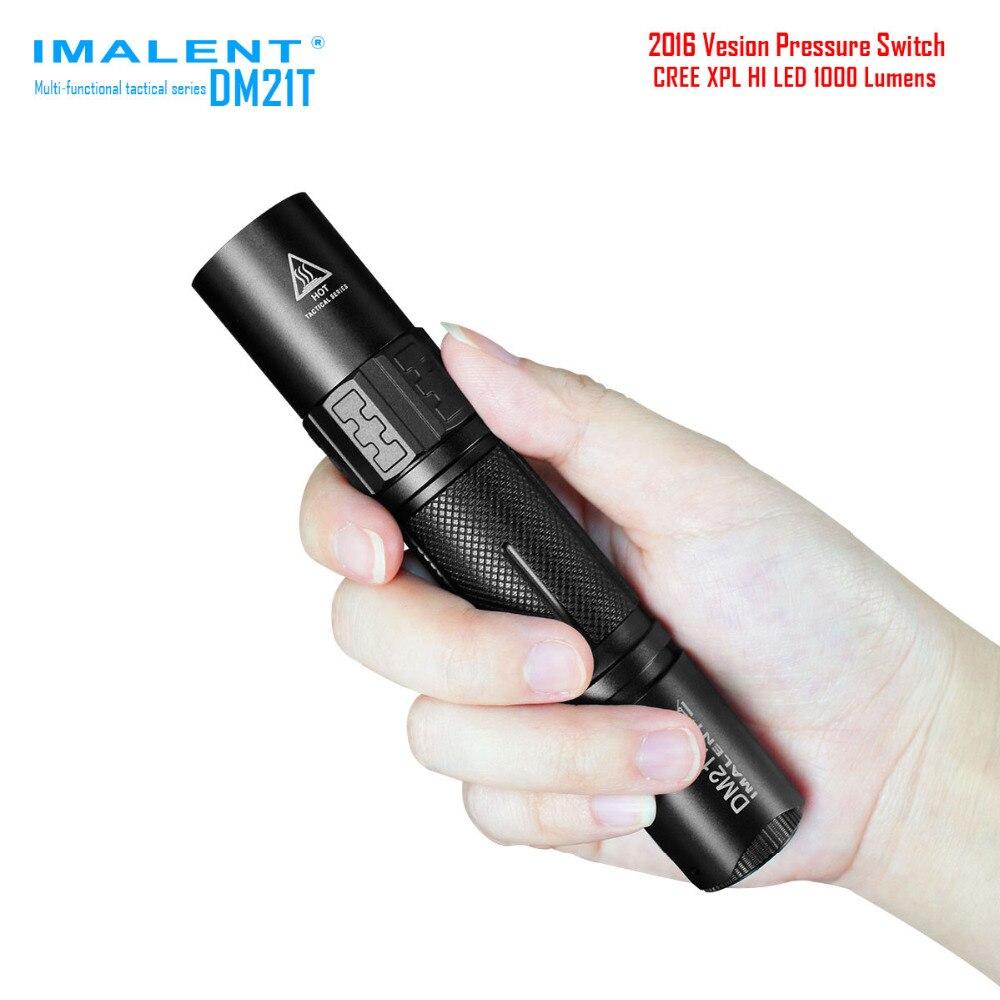 IMALENT DM21T Waterproof XPL HI 4 Modes 1000 LM Tactical USB Rechargeable USB LED Flashlight 18650/CR123 Torch+Holster+2x O-ring nitecore tm06s palmtop monster waterproof 4000lm 5 modes 4 x xm l2 u3 led light lamp flashlight 18650 torch holster o ring