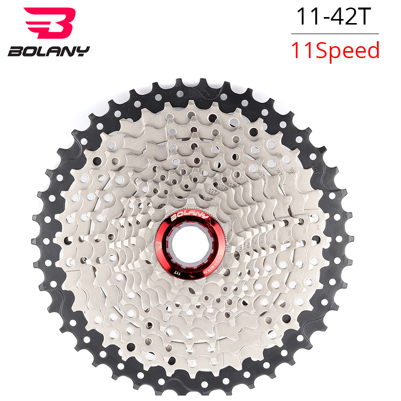 BOLANY MTB 11 Speed Cassette Freewheel Sprocket Mountain Bike Parts 11-42T Bicycle Flywheel Compatible For Shimano XT M8000 fouriers cr dx008 sk3 bike sprocket heat treated chainring chain guard 40 42t for 10 speed bicycle cassettes xt r xt