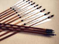 12pcs White MEDIEVAL Handmade Archery Bamboo Arrows Field Point good bow arrow for hunting 28-33INCH