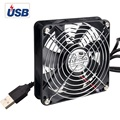 ELUTENG USB Cooling Fan 120mm Silent USB Powered Computer Fans 7 Blades 5V Radiator for PS4 PS3 TV Boxes Sink Router
