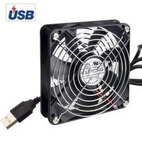 ELUTENG USB Cooling Fan 120mm Silent USB Powered Computer Fans 7Blades 5V Radiator For PS4 PS3