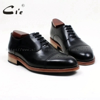 cie round toe full brogues medallion black 100%genuine calf leather men's shoe goodyear welted bespoke leather man shoe OX533