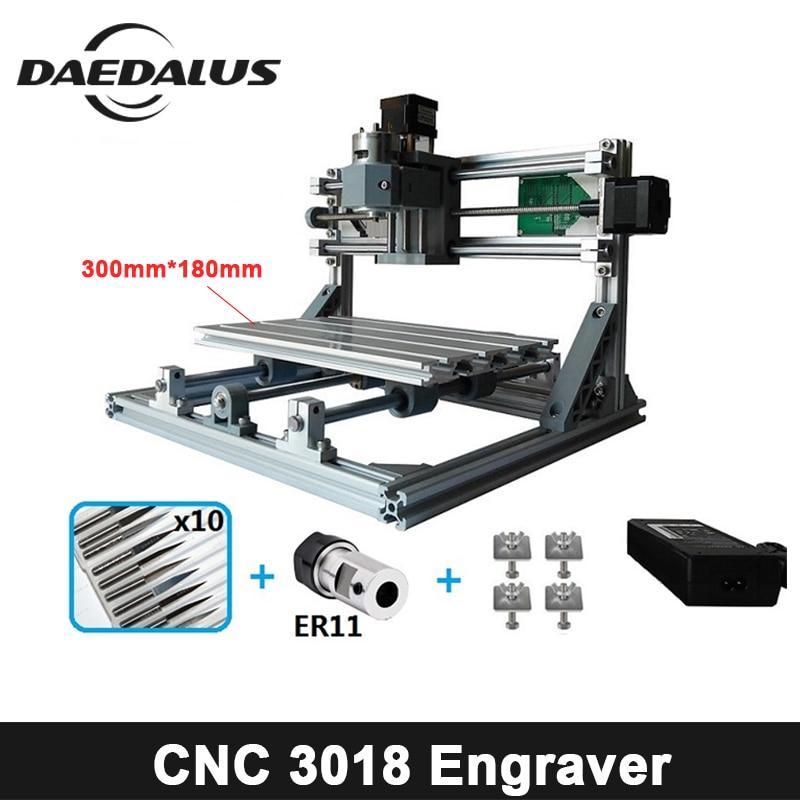 CNC3018 ER11, DIY мини с ЧПУ гравюры, Pcb фрезерный станок, дерево маршрутизатор, лазерная гравировка, ЧПУ контроллер grbl, жаждал из металла