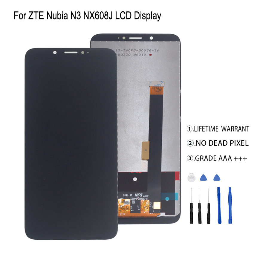 For ZTE Nubia N3 NX608J NX617J LCD Display Touch Screen Digitizer For ZTE Nubia N3 LCD Screen Display Repair Parts Free Tools