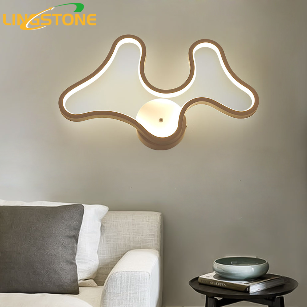 Led Wall Lamp Modern Wandlamp Antlers Sconce Mirror Light Bedroom Living Room Home Lighting Fixture Restaurant Bar Dining Room modern wall lamp glass ball led wall sconces bedside wall light fixture bedroom luminaria home lighting vintage lamp