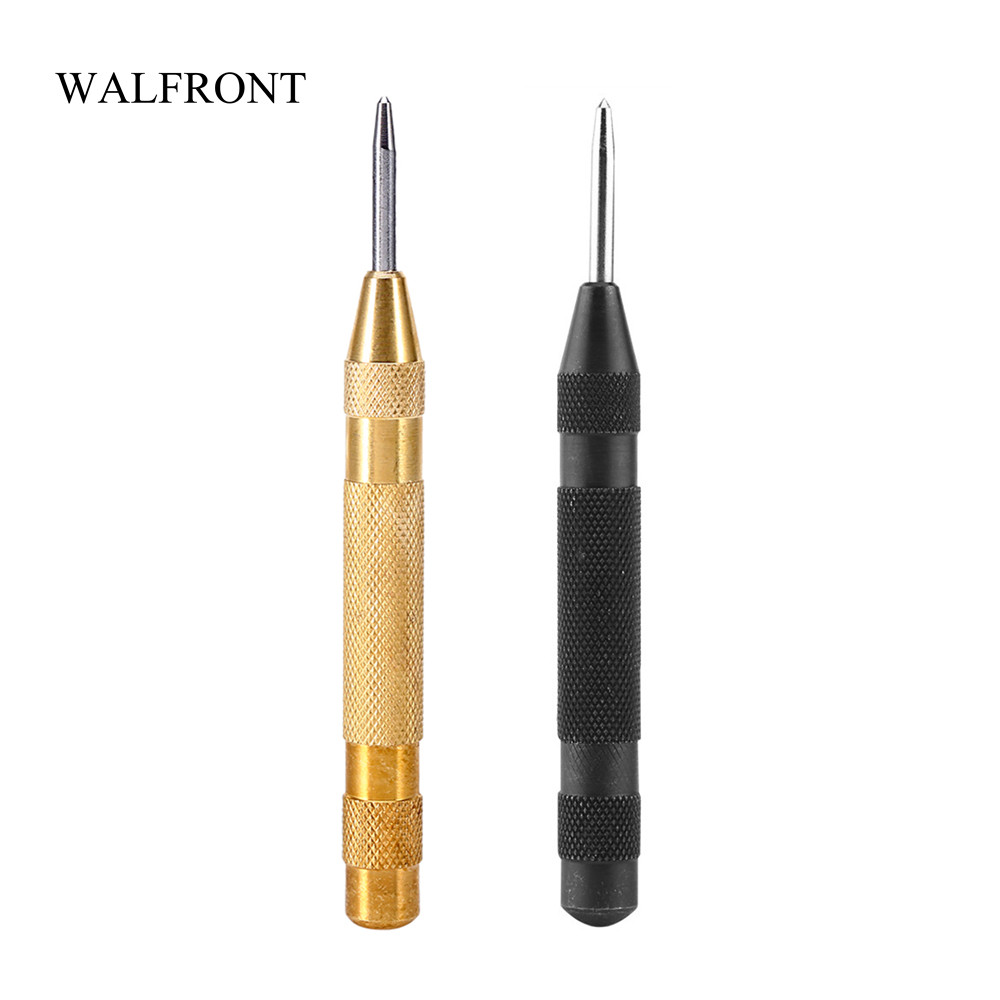 WALFRONT Automatic Center Punch Woodworking HSS Press Dent Locator Marking Starting Holes Tools Impact Punch Hand Drill Bit Pin marking tools