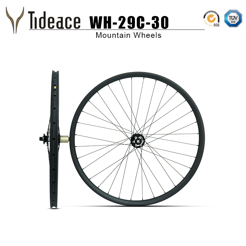 Updated 29er light weight 29er wheels 30mm width hookless 29 Mtb carbon wheelset with Novatec hubs цены