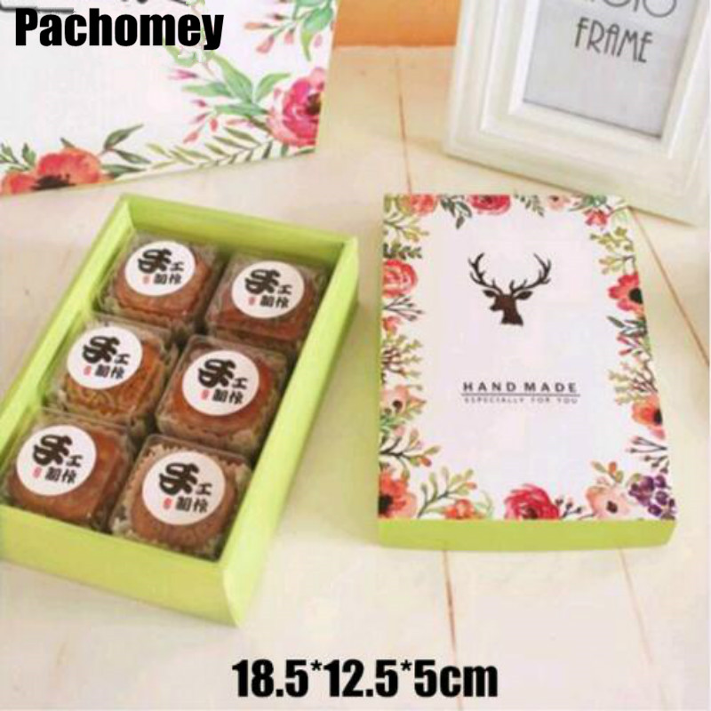 20pcs/lot Wholesale Biscuit Paper Packaging Boxes Macaron Paper Boxes Packaging for Food Cookies Baking Boxes PP857