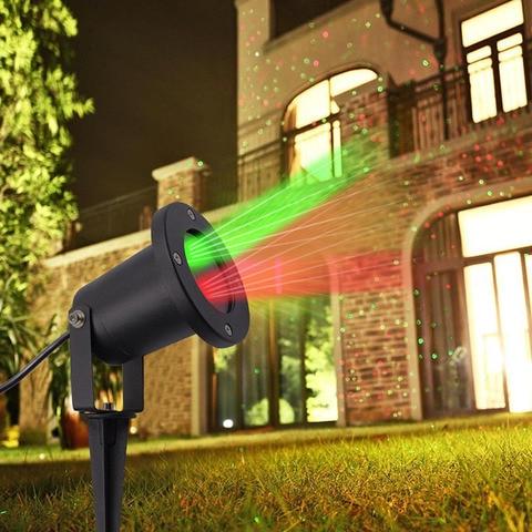 red green star point lampada ao