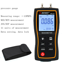 SW512 digital differential pressure gauge, high precision pressure gauge, pressure tester 80mm 60kpa to 60kpa stainless steel digital electric vaccum pressure gauge