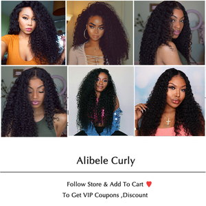 Image 5 - Alibele Malaysian Deep Wave Curly Lace Front Wig 150% Pre Plucked 13x4/4x4 Lace Closure Wigs Short Long Malaysian Human Hair Wig