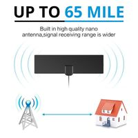 80 Miles Antenna Digital HDTV Indoor TV Antenna 4K HD VHF UHF Freeview for Life Local Channels Broadcast for All Types 3