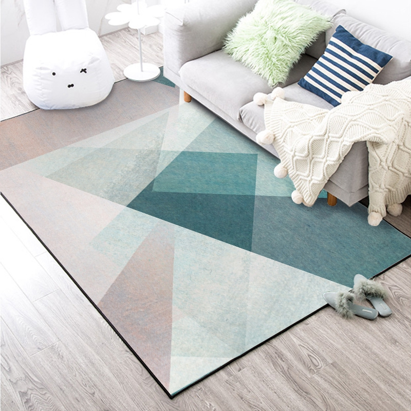 Nordic Simple Style Large Carpets Living Room Bedroom Tapete Geometric Printed Home Decor Carpet Delicate Area Rugs Floor Mat