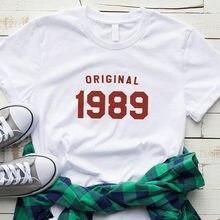 30th Birthday Shirt Summer Fashion Tshirt Graphic Tee For Women Gifts Her 1989