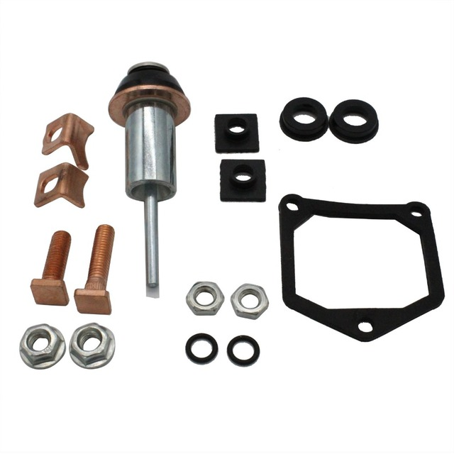 US $12 58 |TAKPART Starter Solenoid Repair Rebuild Kit Contacts Parts Fit  For Toyota Subaru 228000 6660, 228000 6662, 228000 6663-in Alternator &