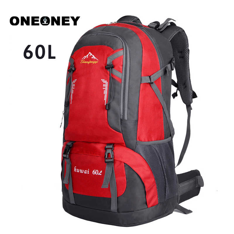 2b40fa0e1d11 New Men Women Backpack Large Capacity 60L Outdoor Pack Waterproof Travel  Sports Backpack Rucksack Outdoorer Camping
