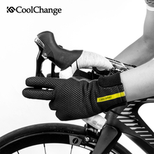 CoolChange Bicycle Gloves Winter Thermal Windproof MTB Bike Touch Screen Fleece Long Finger Cycling For Men Women