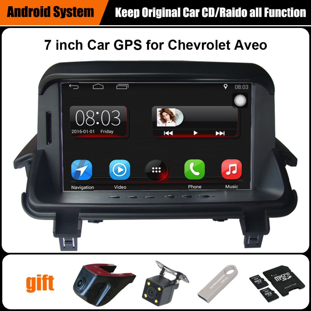 Aggiornato Originale Auto Lettore multimediale di Navigazione GPS Per Auto Vestito per Chevrolet Aveo Supporto WiFi Smartphone Specchio-collegamento Bluetooth