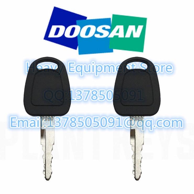 4 Heavy Equipment Ignition Keys F900 Fits Daewoo Doosan K1009605