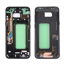 Pour Samsung Galaxy S8 G950 G950F G950FD G950T G950V boîtier de téléphone dorigine châssis LCD plaque nouveau cadre moyen avec adhésif