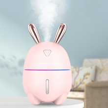 300ML Ultrasonic Air Humidifier  Rabbit USB Aroma Essential Oil Diffuser Office Car Humidificador With Color LED Lamp For Baby
