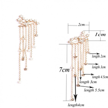 1 Pair Star Women Stud Earring Vintage Designer Long Studs Earring Crystal Pendientes Wedding Party Boucle Brincos Gold Color