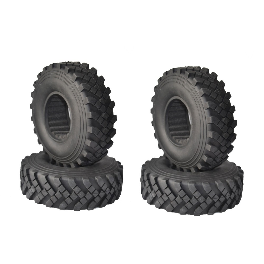 RCAIDONG Rock Racer Crawler 2.2 128mm Tires for 1/10 RC4WD D90 Axial  Wraith SCX10 RC Rock Crawler 4PCS 4pcs rc crawler truck 1 9 inch rubber tires