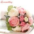 2016 Hot Sale Handmade Buquê de Casamento Flor Artificial Decoração de Casamento Acessórios Do Casamento Flores Bouquets de Noiva