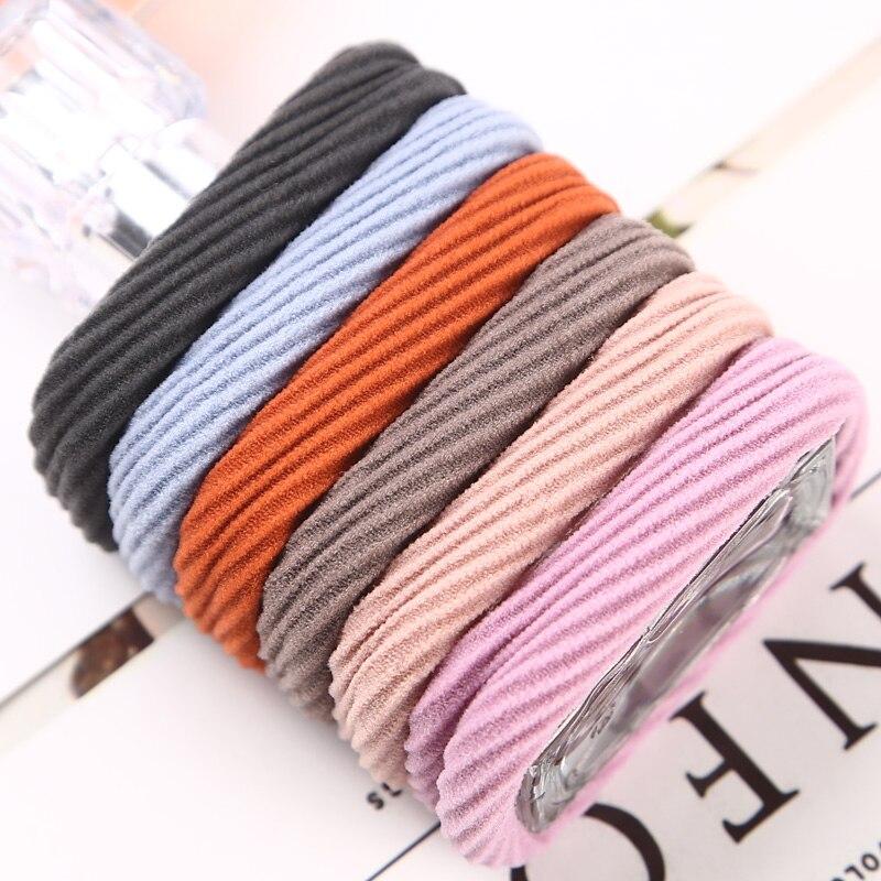 AIKELINA 10PCS Fashion Hair Rope Hög Resilience Sömlös - Kläder tillbehör