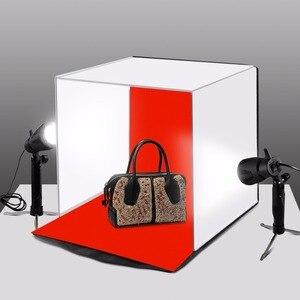"""Image 2 - PULUZ 40*40 centimetri 16 """"Photo studio box photograghy Softbox Portatile Pieghevole Studio di Ripresa Tenda Box Kit con 5 sfondo fondali"""