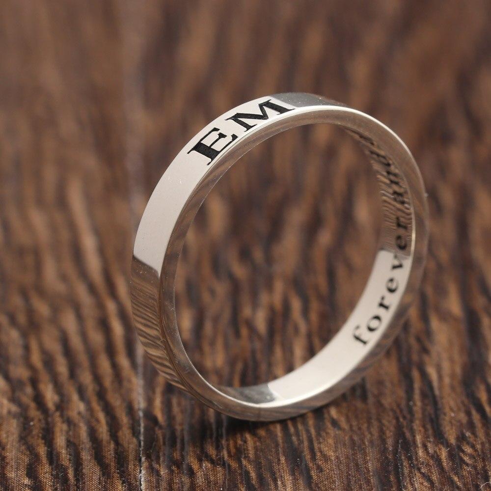 custom name solid silver ring men two sides engraved name. Black Bedroom Furniture Sets. Home Design Ideas