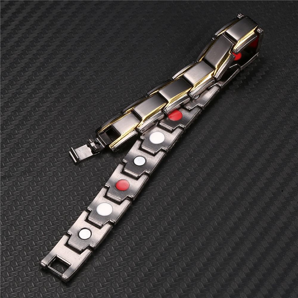 Black Male Bracelets Bangles Energy Balance Copper Chain Link Germanium Magnetic Bracelets For Men Health Care medical Jewelry
