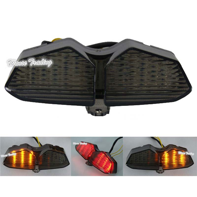 waase For Yamaha YZF R6 2003 2004 2005 Tail Light Brake Turn Signals Integrated LED Lightwaase For Yamaha YZF R6 2003 2004 2005 Tail Light Brake Turn Signals Integrated LED Light