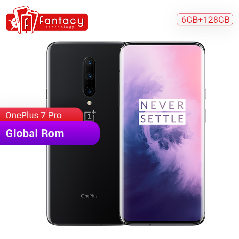 Global ROM OnePlus 7 Pro 6GB 128GB Smartphone 48MP Triple Cameras Snapdragon 855 6.67 Inch AMOLED Display Fingerprint UFS 3.0