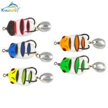 5g 35mm Soft Frog Snakehead fishing Lures 5 colors 3D eyes Top Water Fishing Baits With Hook